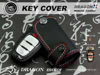 Leather Key fob Holder Case Chain Cover fit  For Audi A1 A3 A4 A5 A6 A7 A8 024E