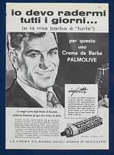 A505-Advertising Pubblicità-1960-CREMA DA BARBA PALMOLIVE