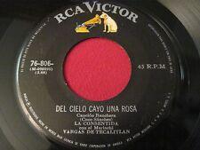 RARE LATIN 45 - LA COSENTIDA VARGAS DE TECALITAN - DEL CIELO CAYO - RCA 76-806