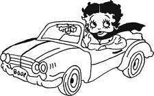 Betty Boop en voiture autocollants en vinyle autocollant graphique
