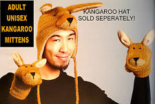 deLux KANGAROO MITTENS knit ADULT puppet LND wallaby costume HAT SEPARATE delux