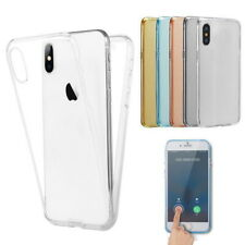 For iPhone 11 Pro 11 XS Max X 8+ 360° Protect Shockproof Clear Rubber Case Cover