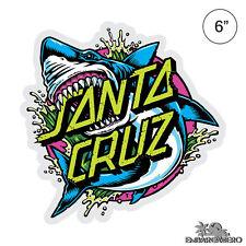 Santa Cruz Shark Dot Skateboard Sticker Large 6in