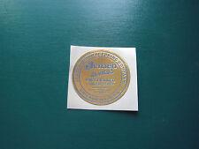 """Jensen Speaker Label Pre 58' gold and blue 2"""""""