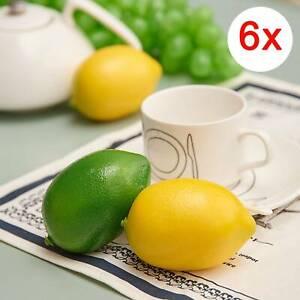 6pcs Artificial Lifelike Limes Lemon Fake Fruits Home Party Decorative Props
