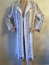 NWT St John Knit size 10 Bright White & Blue Topper tweed
