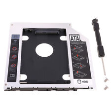 """Second HDD Caddy SATA 2.5"""" HDD SSD 9.5mm Enclosure For Apple Macbook DVD CD ROM"""