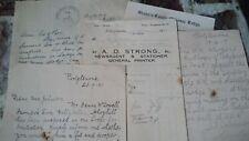 Portglenone Masonic No 450, Ephemera Letters, Paper Documents X 5 Freemasons #6