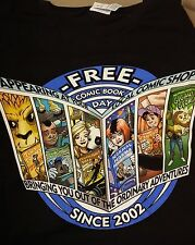 """""""Free Comic Book Day Since 2002"""" Men's Large T-Shirt ~ WH"""