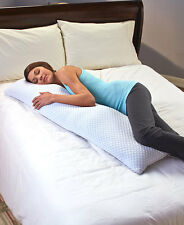 Cool Gel Infused Memory Foam Body Pillow Cradles Supports Neck & Head Bedroom