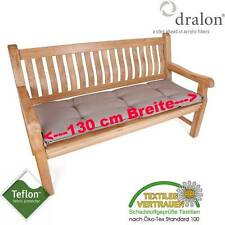 dralon® Teflon™ PREMIUM AUFLAGE FÜR BANK 130 x 50 CM CAPPUCCINO BRAUN DICK