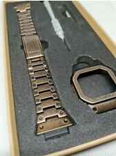 Brown age metal bezel and bracelet for Casio G Shock DW5600..