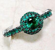 1CT Emerald Quartz 925 Solid Sterling Silver Filigree Ring Jewelry Sz 6