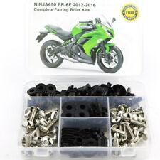 For Kawasaki Ninja650 12-16 Complete Fairing Bolts Kit Bodywork Screws Silver