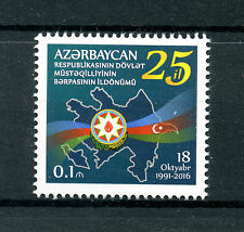 Azerbaijan 2016 MNH Independence 25th Anniv 1v Set Stamps