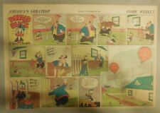 Donald Duck Sunday Page by Walt Disney from 11/30/1941 Half Page Size