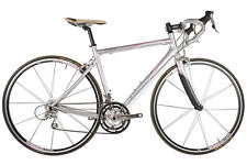 Rennrad in Silber