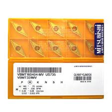 H●MITSUBISHI VBMT160404-MV US735 Carbide Inserts CNC