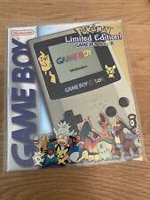Nintendo Game Boy Color Pokemon Special Edition Gold Silber Boxed Pikachu