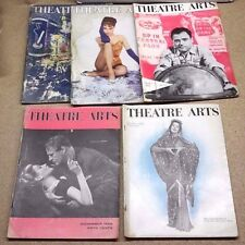 1957 Theatre Arts Magazine Lot of 5- Complete Play in Each- FREE S&H (C-6227-MF)