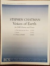 *LOT OF 15*  - VOICES OF EARTH by S. Chatman -ECS Publishing - SAB Choral Octavo