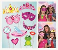 Princess & Frog Photo Booth Photo Props Party Kit Contains Set 10 Accessories