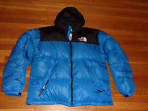 THE NORTH FACE FULL ZIP 700 PUFFER GOOSE DOWN HOODED JACKET MENS XL EXCELLENT