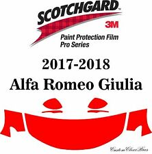 3M Scotchgard Paint Protection Film Pro Series Clear 2017 2018 Alfa Romeo Giulia