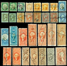 Collection of 30 Misperfed United States Revenue Issues R1c//RB17a Cat $724.25