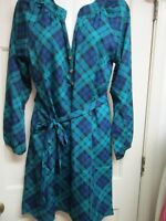 Green/Navy Shirtdress by Mud Pie, Size Medium, NWT