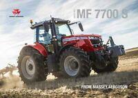 MASSEY FERGUSON MF 7700 S 7719 SALES BROCHURE/POSTER ADVERT A3