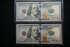 $100 Federal Reserve ✯ Star Note {2} Hundred Dollar Bill 2013 Sequential Numbers