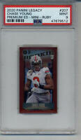 CHASE YOUNG 75/75 MINI RUBY PSA 9 MINT GRADED ROOKIE CARD OHIO STATE BUCKEYES