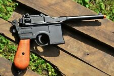 WWII 1896 Mauser Automatic Pistol - Broomhandle - German - Denix Replica
