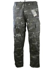 Kombat US Army Style ACU Ripstop Military Combat trousers - BTP Black