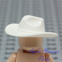 NEW Lego Minifig White FEDORA HAT Lone Ranger Movie Sheriff Cowboy Head Gear Cap