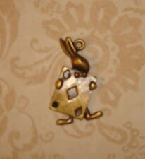 Pendant Alice in Wonderland Charm Rabbit Charm Cards Charm Bronze Charm