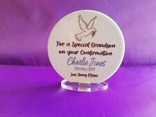Personalised Boy or Girl Confirmation Standing Plaque Gift