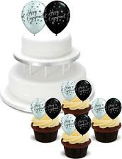 NOVELTY Happy Engagement Balloons PACK 2 Large 12 Cupcake STAND UP Cake Toppers