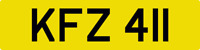 DATELESS PRIVATE NUMBER PLATE KFZ 411 CHERISHED REG COVER NON DATING CHEAP KF