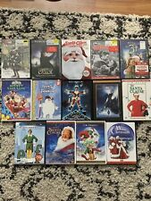 Lot of 14 Christmas Dvds Movies -Polar Express Elf Grinch Santa Clause Frosty