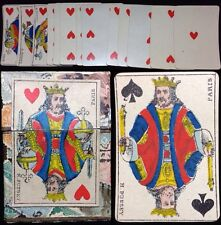 c1885 Short Lived Printer H. Pussey French Patience Playing Cards + Scarce Box