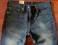 Levi's 505 Straight Leg Jeans Men Size 32 X 34 Stretch Classic Levi's Blue Jeans