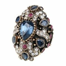 Big Unique Party Accessories Design Fashion For Women Crystal Bride Finger Ring