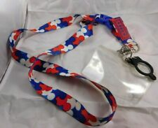 """Disney Mickey Mouse """"Usa"""" Patriotic Lanyard Bottle Holder Clear Pouch"""