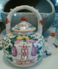 Small antique Famille Rose tea pot c1880