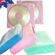 100pcs CD Bag DVD Cover Storage Disk Case Plastic Sleeve PP Holder EDIS12