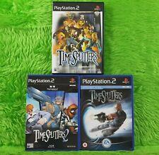 ps2 TIMESPLITTERS x3 Games 1 + 2 + Future Perfect PAL UK Versions