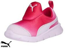 Puma Slip On Easy Wear Trainers Toldder Infants Pink Baby Girls Size 7(euro 24)