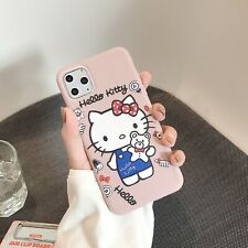 CUTE Hello Kitty cat Phone soft Case  Pink iphone 6 7 8 7PLUS XS X Xr 11pro max
